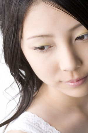 A beautiful Japanese woman's face 스톡 콘텐츠
