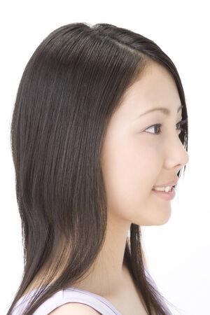 A beautiful Japanese womans portrait photo