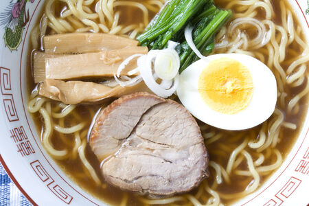 Close-up shot of a bowl of Japanese noodle, Ramen Stock Photo - 6805027