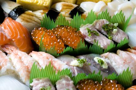 SUSHI-Close-up shot of tasty Japanese  sushi assorted photo