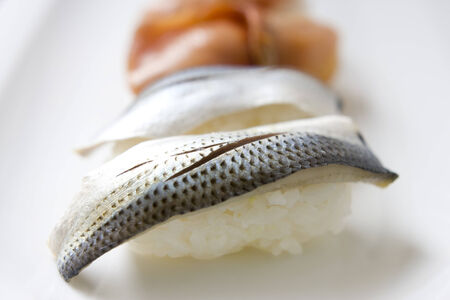 gizzard: Pieces of gizzard shad sushi