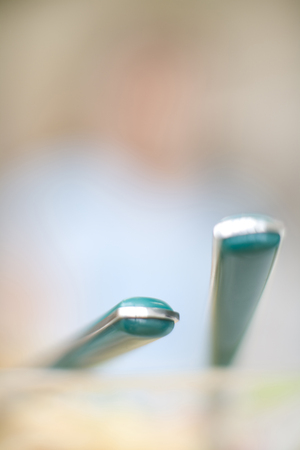cleansed: Fork and spoon Stock Photo