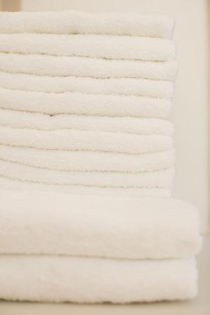 bath towel: Bath towel and face towel Stock Photo