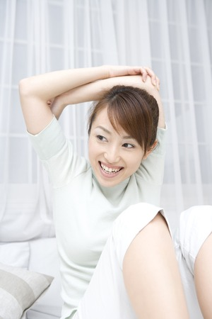 pliable: Women who exercise Stock Photo