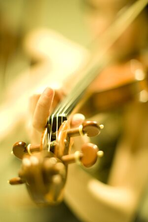 instrumentalist: Woman playing the violin
