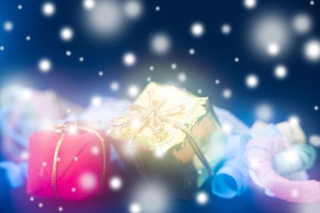 クリスマス プレゼント 写真素材