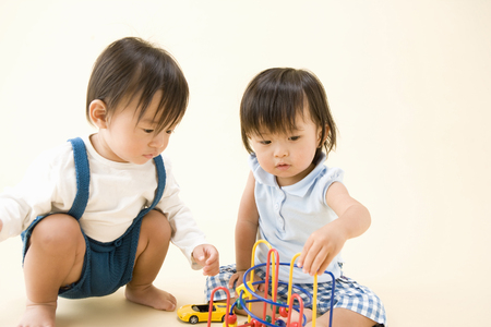 Baby play with toys