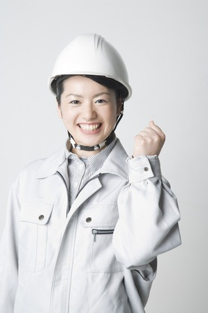 work clothes: Woman wearing work clothes