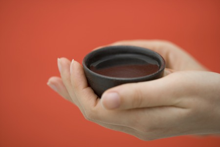 cereals holding hands: Japanese sake