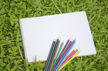 writing utensil: Colored pencil Stock Photo
