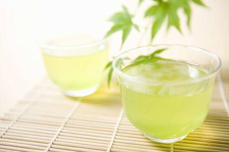 japanese maples: Green tea Stock Photo
