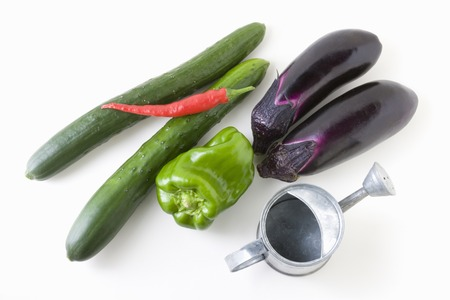 green and purple vegetables: Vegetables