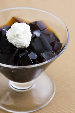 coffee jelly: Coffee jelly Stock Photo