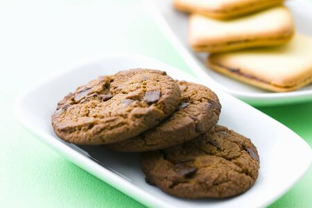 choco chips: Cookies Stock Photo