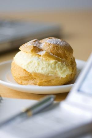 internet terminals: Cream puffs Stock Photo