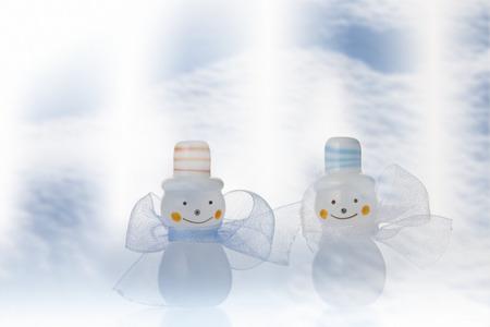 end month: Snowman Stock Photo