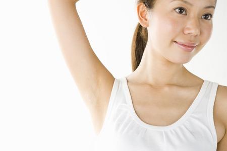 adult armpit: Female portrait Stock Photo