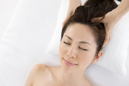 cleansed: Head Spa Stock Photo