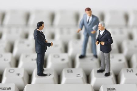 talks: Businessman Stock Photo