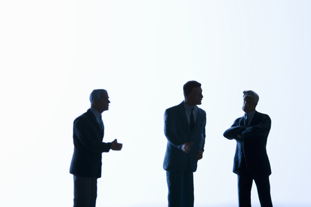scaled down: Business people silhouettes Stock Photo