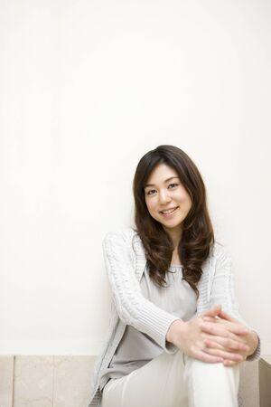daily room: Female portrait Stock Photo