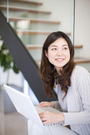 loosen up: Female portrait Stock Photo