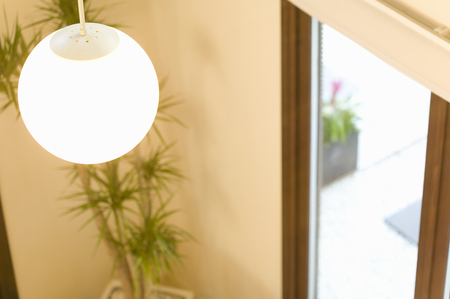 downlight: Living room Stock Photo