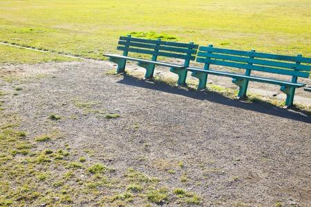 ballpark: Bench Stock Photo