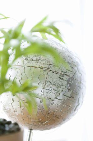 cleansed: World globe Stock Photo