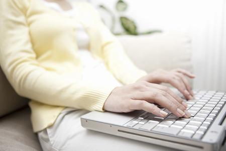 pc: Women in PC Stock Photo