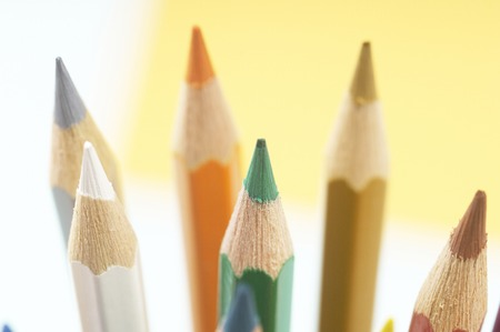 writing implements: Colored pencil Stock Photo