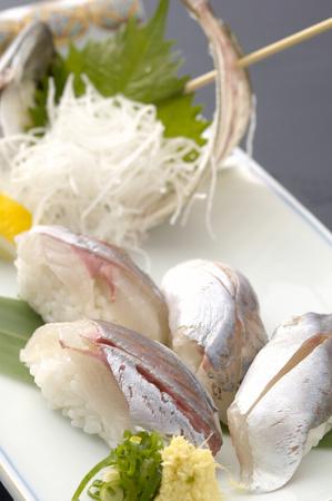 Horse mackerel sushi photo