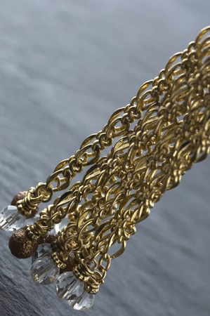 gorgeousness: The accessory made by gold parts on the table.