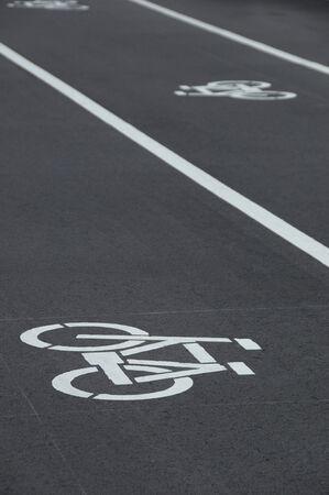 自転車置き場のマーク。