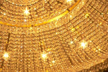 gorgeousness: Luxurious chandelier which beams in gold.