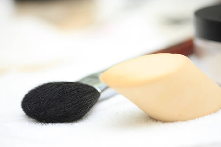 esthetics: Some kinds of tool for makeup. Stock Photo