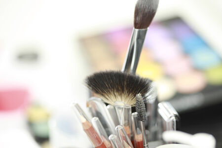 esthetics: A lot of tools for make up.