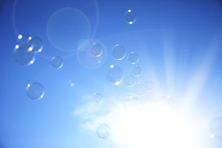 levitate: SOAP bubbles Stock Photo