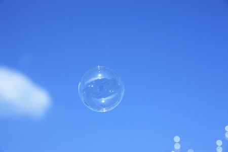 cleansed: SOAP bubbles Stock Photo