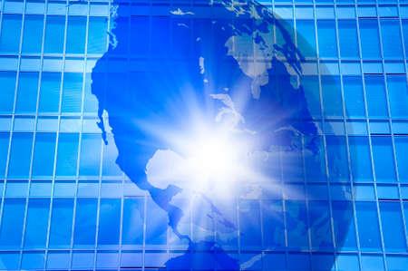 imagen corporativa: Globe and corporate image