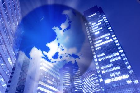 corporate image: Globe and corporate image