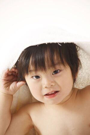 bath towel man: Boy
