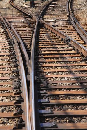 split rail: Transmission line Stock Photo