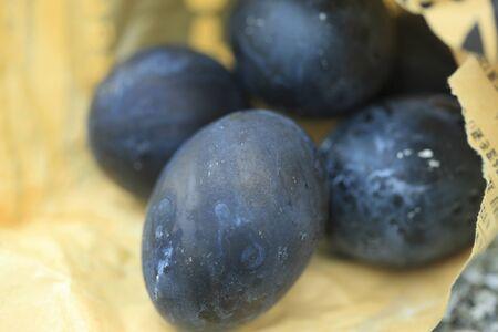 black: Black eggs Stock Photo