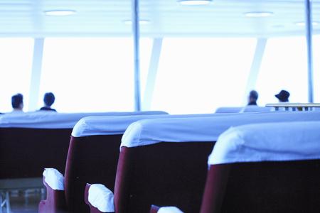 プレジャー ボートの観客 写真素材