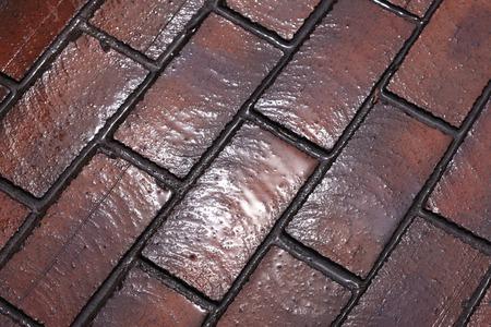 be wet: Wet bricks