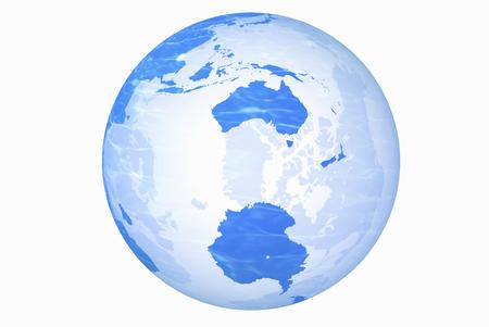 antarctica: Globe, Antarctica