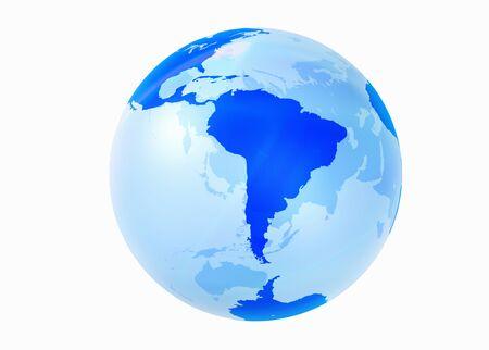 south  america: Globe, América del Sur