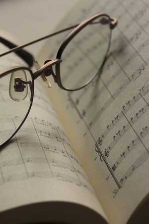 Glasses and music