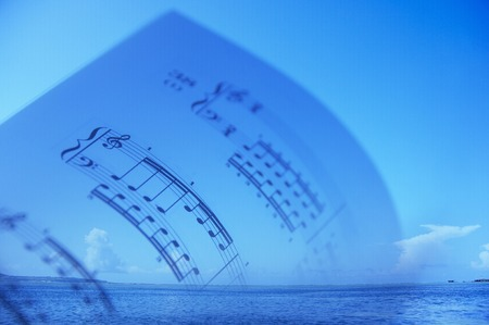 sheet music: Sheet music and the sea